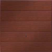 Hormann Series 2000 steel up and over garage doors Horizontal Decograin Rosewood